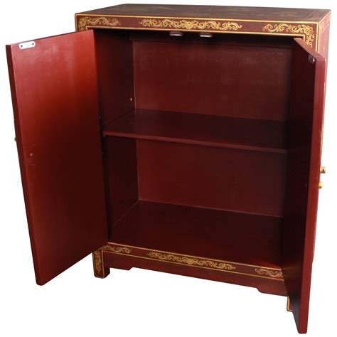 red lacquer cabinet oriental furniture red lacquer cabinet ebay