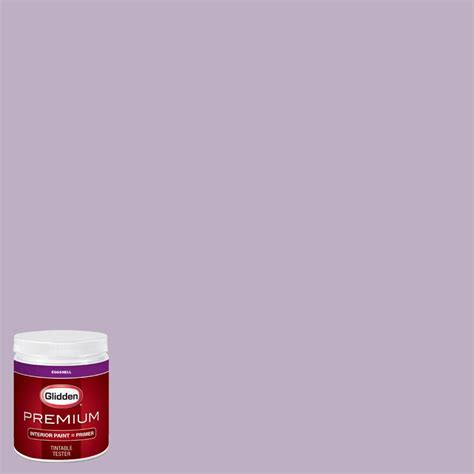 glidden premium 8 oz hdgv58d northern light purple eggshell interior paint with primer tester