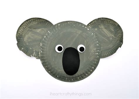 Koala Paper Plate Craft - sign up for our newsletter to keep up with our