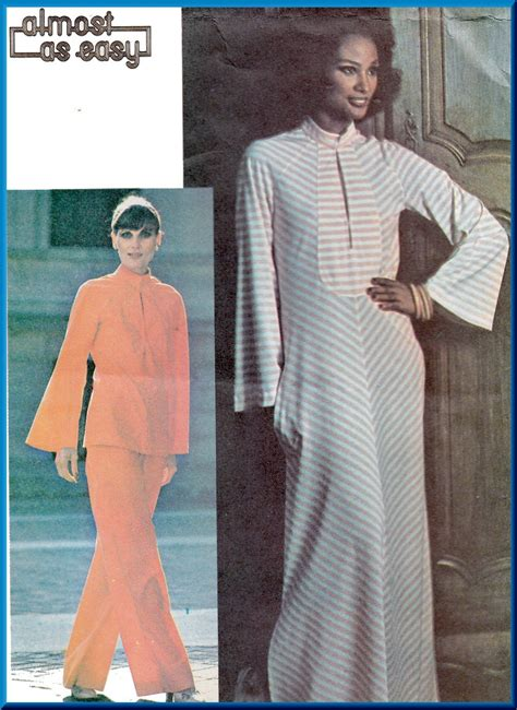 70s vintage sewing pattern caftan style 2076 size large 16 vintage mccall s sewing pattern 4950 size 12 misses 70s