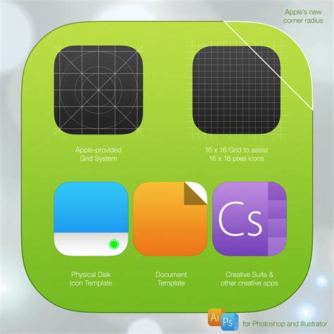 ios 7 icon template psd ai by iynque on deviantart