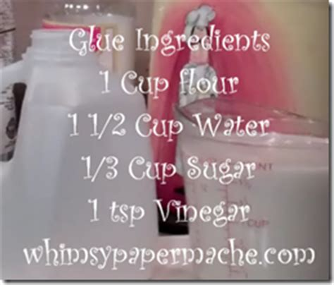 Ingredients To Make Paper Mache - whimsy paper mache stick this glue recipe