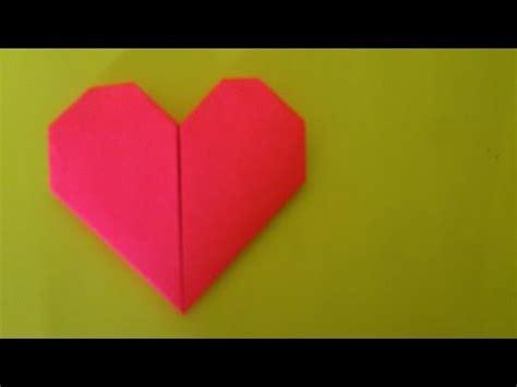 membuat origami hati sederhana cara membuat origami hati sederhana origami hati