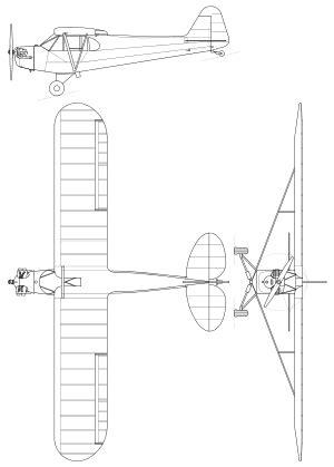 V Gavrilin Sketches by Piper J3 Cub Svg Avia Aviones Planos And
