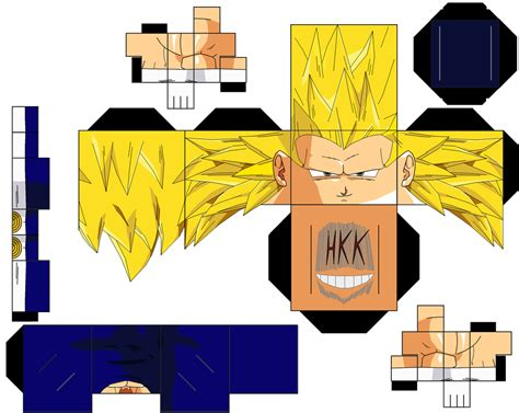 Vegeta Papercraft - ss3 vegeta by hollowkingking on deviantart