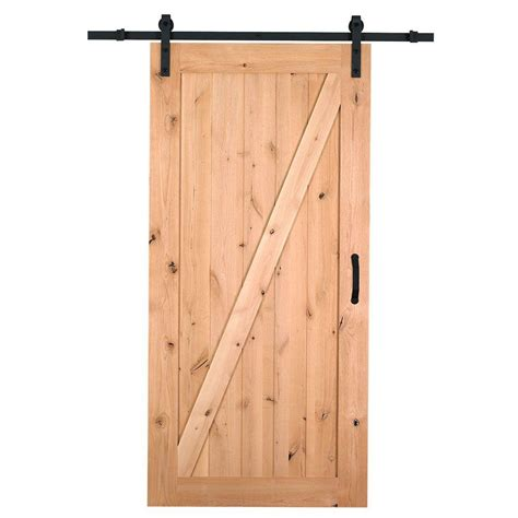 interior barn door hardware home depot masonite 42 in x 84 in z bar knotty alder wood interior