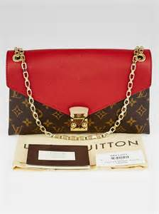 louis vuitton cerise monogram canvas pallas chain bag