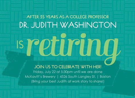 Free Retirement Invitations Retirement Flyer Template Word