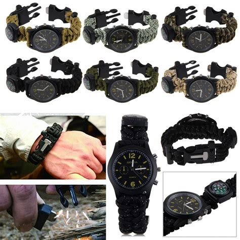 how to use flint starter survival bracelet with compass flint starter