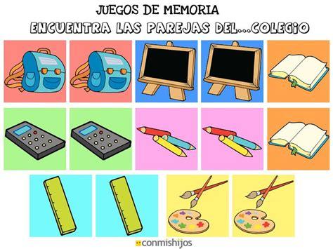 imagenes de niños jugando memoria juegos de memoria encuentra las parejas del colegio