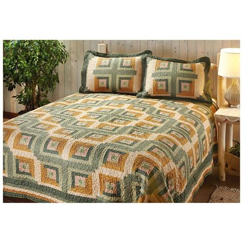 castlecreek log cabin quilt set 578078 quilts
