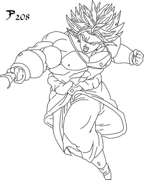 dragon ball z coloring pages of broly broly coloring pages 555008
