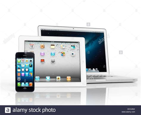 Tablet Apple Iphone electronics still of three apple devices iphone