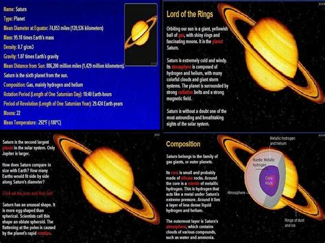 information on saturn for pics for gt saturn facts