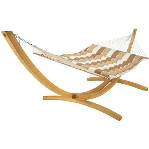 Hatteras Hammocks Hatteras Hammocks Birch Stripe Pillowtop Hammock Dfohome