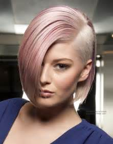 bob haircuts that cut shorter on one side bob haircut with a millimeter short clipper cut section