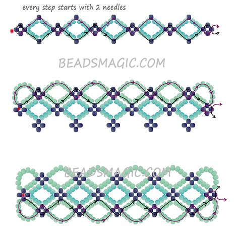seed bead patterns free tutorial beaded necklace pattern 2 beadwork