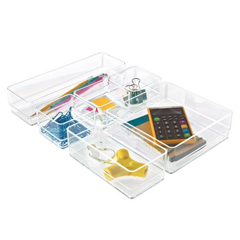 Container Store Desk Organizer Acrylic Drawer Organizer Set The Container Store