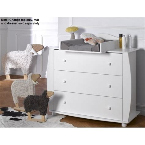 Baby Dresser With Changing Table Top Medea Dresser Baby Change Table Top In Satin White Buy Baby