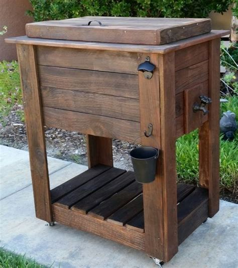 wood cooler custom wood and coolers on pinterest