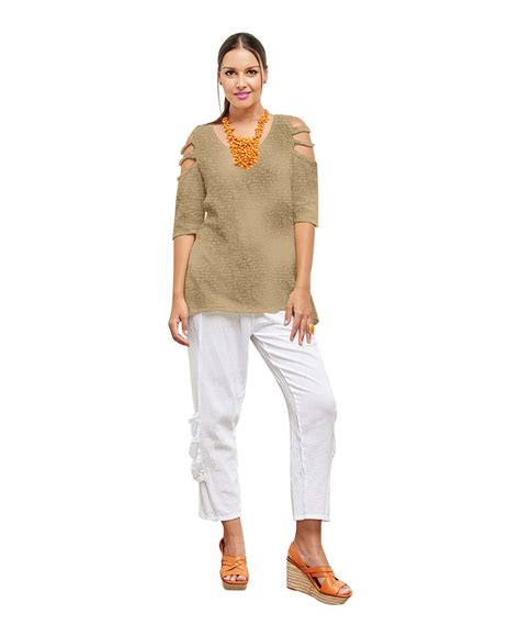Miomi Tunic oh my gauze miami blouse half sleeve tunic top 100 cotton lagenlook ebay