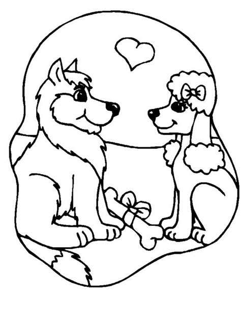 coloring pages of two dogs dog two dogs are in loved coloring page coloring pages