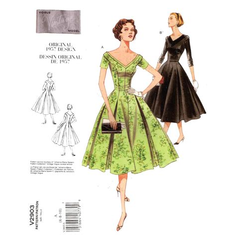 dress pattern vintage vogue rockabilly cocktail dress sewing pattern vogue v2903 retro