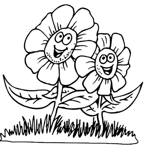 Spring Coloring Pictures Coloring Pages To Print Springtime Coloring Pages