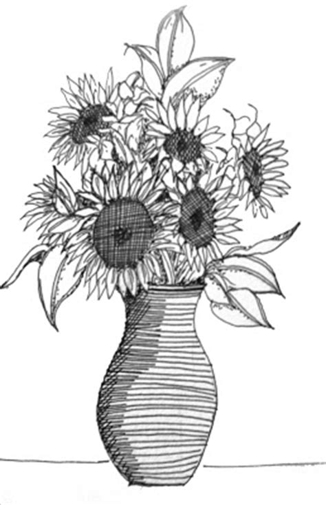 How To Draw Sunflowers In A Vase by Du Jour By Martha Lever Sunflowers
