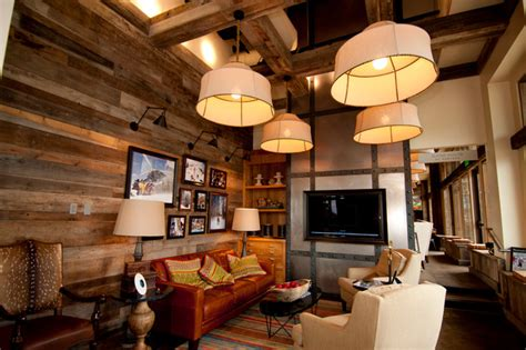 Rustic Living Room Wall Smooth Barnwood Mix Wall Paneling Rustic Living Room
