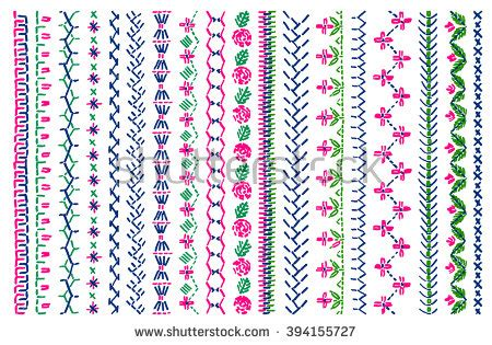 cross stitch pattern clothes line embroidery stock photos images pictures shutterstock