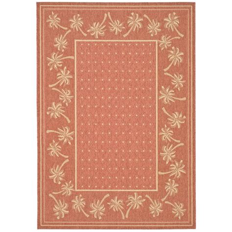 safavieh cy5146a courtyard indoor outdoor area rug rust lowe s canada safavieh courtyard rust sand 2 ft 7 in x 5 ft indoor outdoor area rug cy5148a 3 the home depot
