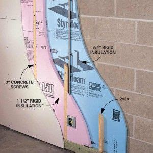 Ideas For Finishing Concrete Basement Walls 25 Best Ideas About Insulating Basement Walls On Pinterest Concrete Basement Walls Basement