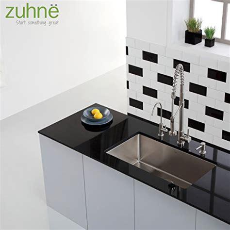 zuhne farmhouse sink zuhne 23 inch undermount deep single bowl 16 gauge