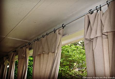 Drop Cloth Curtains For Patio by Drop Cloth Curtains For A Porch Add Privacy And Sun