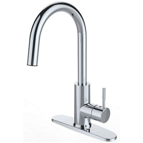 led lighted pull faucets kitchen faucets the home depot
