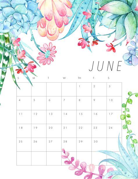 Calendar 2017 June To December Free Printable 2017 Floral Calendar The Cottage Market