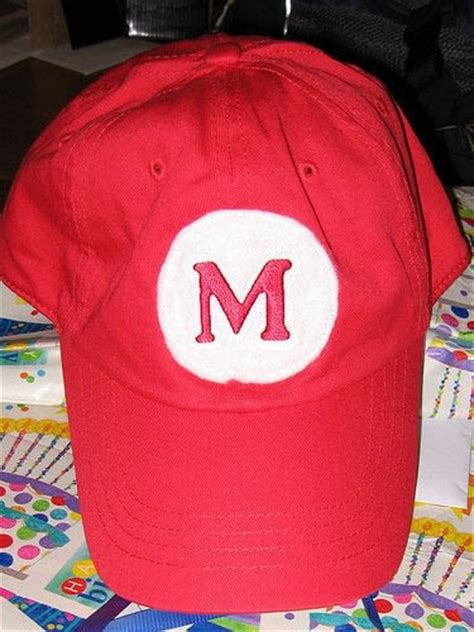 How To Make A Mario Hat Out Of Paper - easy mario hat 183 how to make a baseball cap 183 embellishing