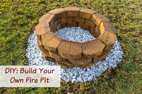 How To Build A Firepit In The Ground Diy Build A Backyard Pit