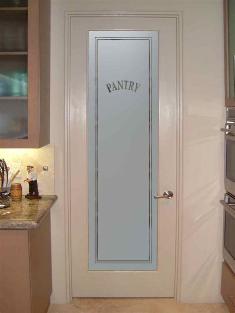Kitchen Pantry Door Ideas by Frosted Glass Pantry Door Sans Soucie Art Glass