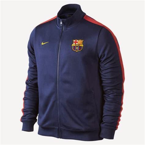Longtorso Bahan Polyester Biru Dongker jaket offcial barcelona biru dongker 2013 2014 nike jangkers sport