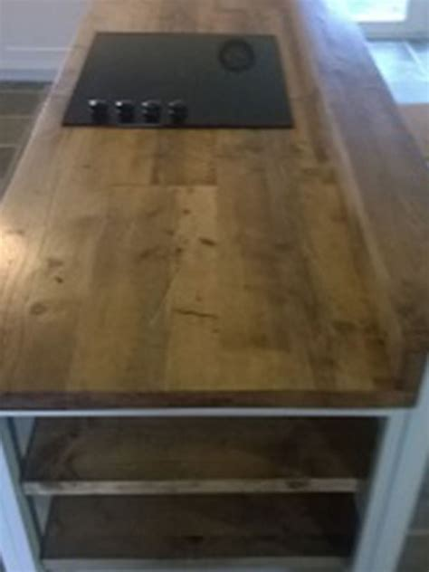 How To Make A Small Kitchen Island reclaimed scaffold worktops dove furniture amp kitchens york
