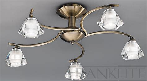 5 Light Ceiling Light by Franklite Twista 5 Light Bronze Flush Ceiling Light Fl2163 5 Franklite Lighting Luxury