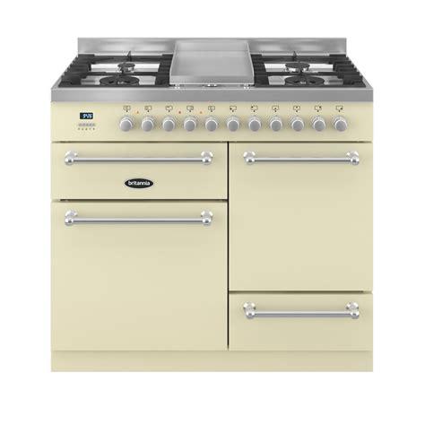 britannia kitchen appliances wyre 100cm xg dual fuel range cooker in matt