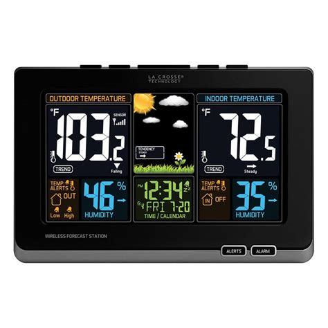 wireless color weather station la crosse technology wireless color forecast station in
