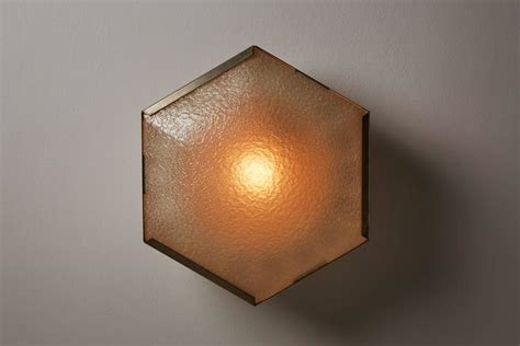 Hexagon Ceiling Light Two Hexagonal Flushmount Ceiling Lights By Stilnovo For Sale At 1stdibs