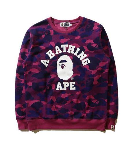 Sweater Jaket A Bathing Bape 2017 winter unisex a bathing camo ape bape hoodie sweater