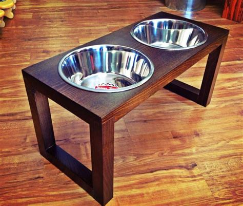 remodelaholic diy dog food bowl stand for small pups raised dog feeder 2 qt 12 inch double westport by woodinyou