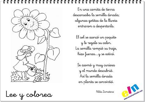 poemas y rimas infantiles de la primavera para ni os lee y colorea poemas para la primavera
