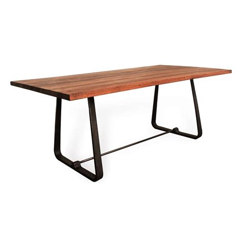 Wood Modern Dining Table Westin Industrial Reclaimed Wood Modern Dining Table Kathy Kuo Home